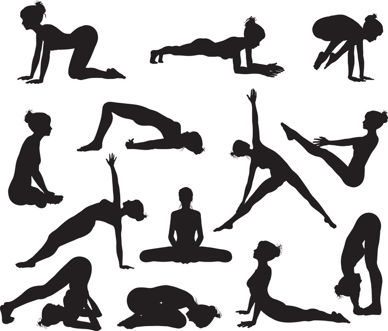 Yoga-siluetas